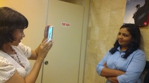 Have I told you that we take pictures EVERY WHERE? Even in a restroom?