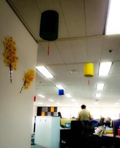 Lampion digantung di sekitar ruang Research Dept