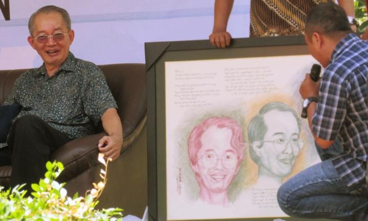 Lukisan wajah Kresnayana Yahya oleh Wahyono Kuntohadi