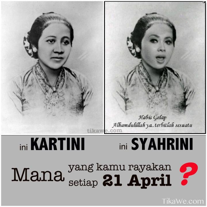 Kartini vs Syahrini